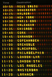 Airport departures board. Royalty Free Stock Photos