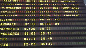 Airport departures board in 4k and loopable stock footage