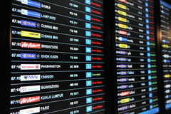 Airport Departures Board Royalty Free Stock Photography