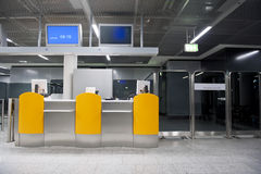 Airport departures gate Royalty Free Stock Photography