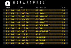 Airport departures - India Stock Photo
