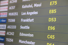 Airport departures monitor Stock Photos