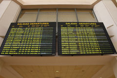 Airport departures in Spain Royalty Free Stock Images
