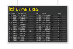 Airport Departures Table Royalty Free Stock Image