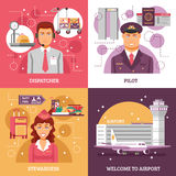 Airport Design Concept Royalty Free Stock Image