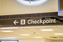 Airport direction checkpoint sign Stock Photos
