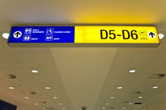 Airport direction sign Royalty Free Stock Image