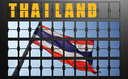 Airport display board of Thailand Royalty Free Stock Images
