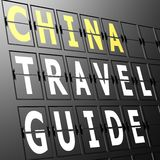Airport display China travel guide Royalty Free Stock Photo