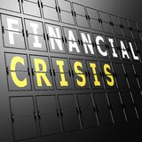 Airport display financial crisis. Image with hi-res rendered artwork that could be used for any graphic design Stock Images