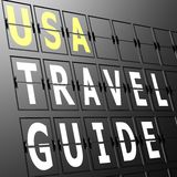 Airport display USA travel guide Royalty Free Stock Images