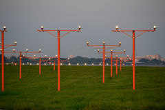 Airport, distance beams. Distance beams on runway, airport Royalty Free Stock Image
