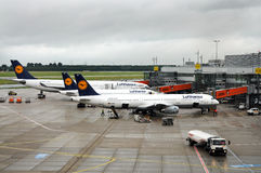 Airport Duesseldorf Royalty Free Stock Photos