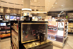 Airport duty free of Ben Gurion airport in Tel Aviv, Israel. Royalty Free Stock Image