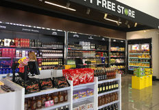 The airport. Duty-free shops. Interior Burgas International Airport. Bulgaria. Duty-free shops Royalty Free Stock Image