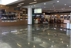 The airport. Duty-free shops. Interior Burgas International Airport. Bulgaria. Duty-free shops Stock Images