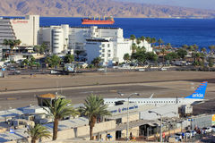 Airport of Eilat , Israel Stock Photos
