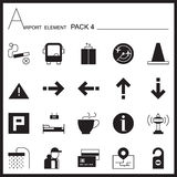 Airport Element Graph  Icon Set 4.Mono pack.Graphic  logo Royalty Free Stock Image