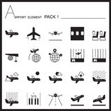 Airport Element Graph Icon Set 1.Mono pack.Graphic  logo s Royalty Free Stock Photography
