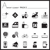 Airport Element Graph Icon Set 5.Mono pack.Graphic  logo s Stock Photo