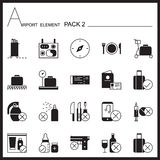 Airport Element graph Icon Set2.Mono pack.Graphic  logo se Royalty Free Stock Image