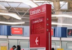 Airport Emirates gate Stock Photography