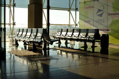 Airport / Empty Terminal / Waiting Area in airport Barcelona, Spain Royalty Free Stock Images