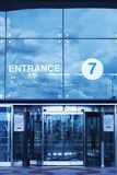 Airport entrance Stock Image