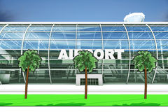 Airport Entry Royalty Free Stock Photography