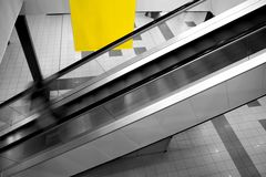 Airport escalator Stock Images