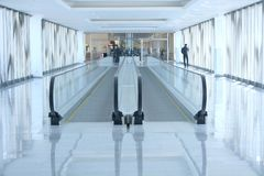 Airport escalator Royalty Free Stock Image