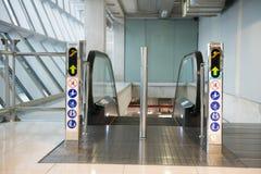 Airport escalator Stock Photos
