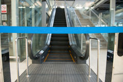 Airport escalator Royalty Free Stock Photos