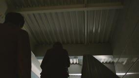 Airport escalator stock video footage