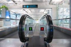 Airport escalator Stock Image