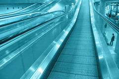 The airport escalator Royalty Free Stock Photos