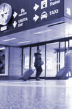 Airport exit Royalty Free Stock Photo
