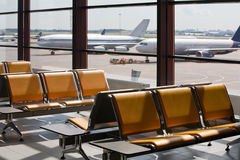 Airport in expectant of passengers Royalty Free Stock Photos