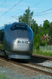 Airport-express train. Express-train transporting passengers between Oslo, Norway and Gardermoen Airport Stock Photo