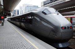 Airport express train in Oslo Royalty Free Stock Photos