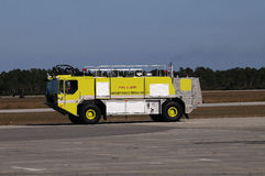 Airport Fire Engine Stock Photography