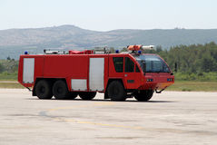 Airport fire engine Stock Images