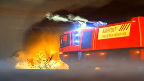 Airport Fire & Rescue Service Royalty Free Stock Photo