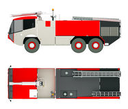 Airport fire service truck 3d rendering Stock Photography