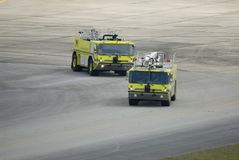 Airport Fire Team Stock Photography