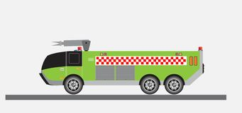Airport Fire Truck Vector Royalty Free Illustration