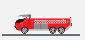 Airport Fire Truck Vector Stock Illustration