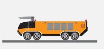 Airport Fire Truck Vector Vector Illustration