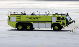 Airport firetruck. A firetruck at Atlanta Hartsfield Jackson Airport Royalty Free Stock Photo