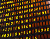 Airport flight board Stock Image